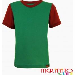 Tricou copii Merinito maneca scurta Verde/Mov