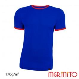 Tricou Merinito Barbati Albastru