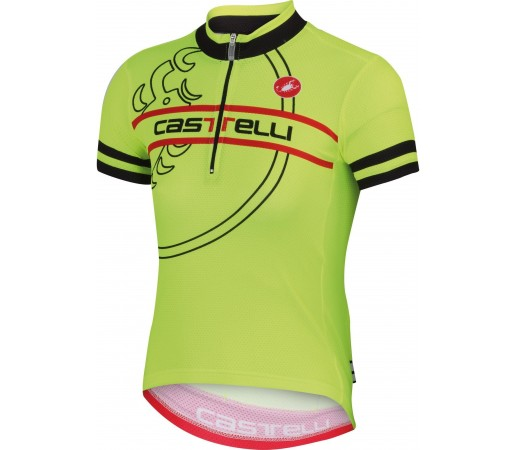 Tricou ciclism Castelli Segno Lime