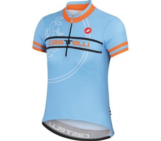 Tricou ciclism Catelli Segno Albastru/ Portocaliu