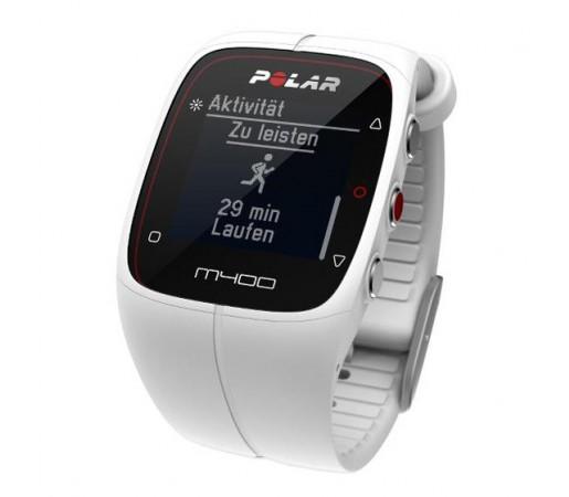 Ceas Polar M400 cu GPS Alb