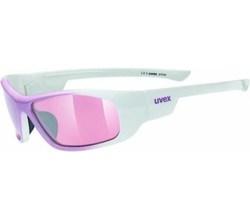 Ochelari de soare Uvex Pixie Junior Alb/Roz