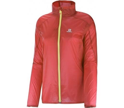 Jacheta alergare Salomon Agile Jacket W Coral Punch/Stone Rosu