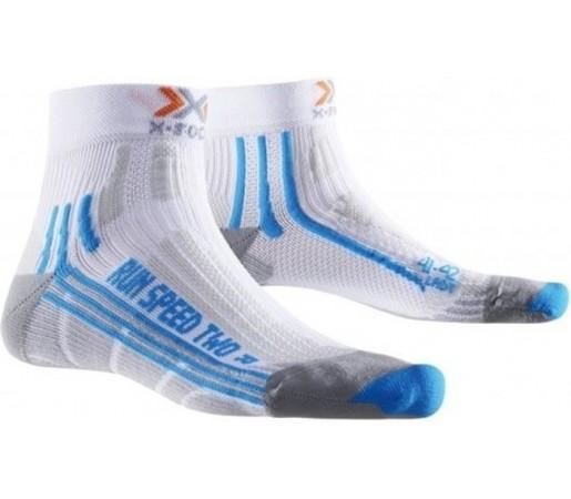 Sosete X-Socks Run Speed Two Short Lady White/Blue
