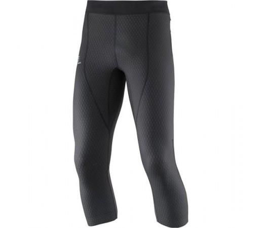 Pantaloni Salomon M Exo Pro 3/4 Negri