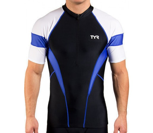 Tricou Tyr Competitor M Cycling Jersey negru/bleu 2013