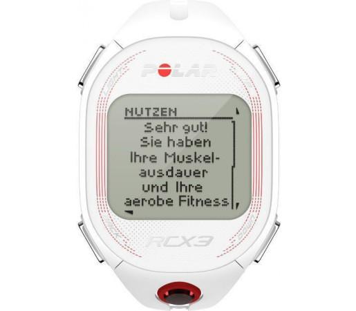 Ceas Polar RCX3F GPS cu centura HRM Alb