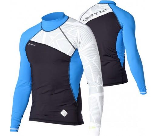 Bluza cu protectie UV Mystic Crossfire Rashvest LS Albastra