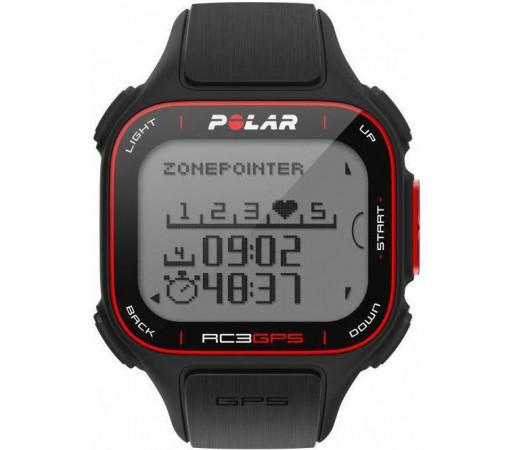 Ceas Polar RC3 BIKE cu GPS, senzor cadenta si centura HRM Negru