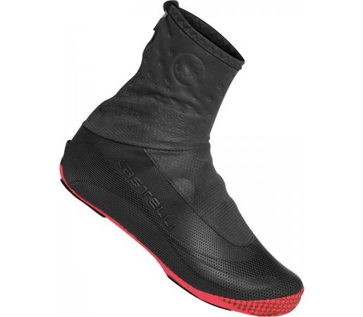 Husa pantofi ciclism Castelli Estreme Negru/Rosu