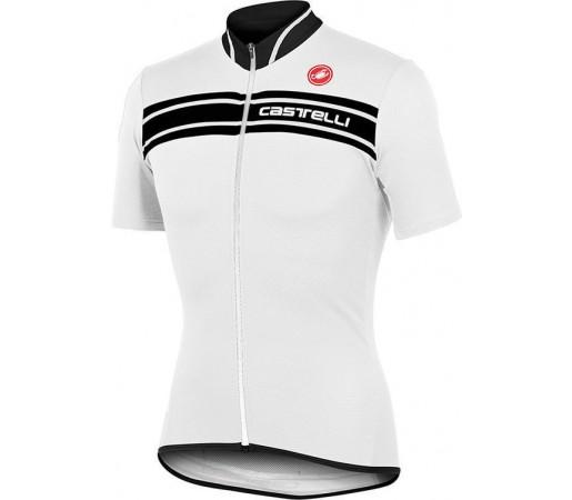 Tricou ciclism Castelli Prologo 3 Alb/Negru