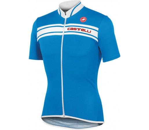 Tricou ciclism Castelli Prologo 3 Albastru/Alb