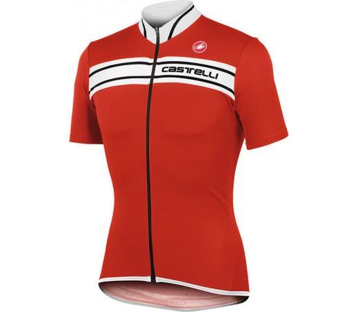 Tricou ciclism Castelli Prologo 3 Rosu/Alb