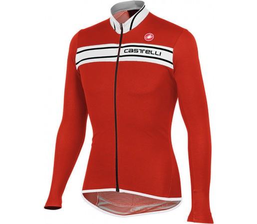 Bluza ciclism Castelli Prologo 3 Rosu/Alb