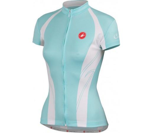 Tricou ciclism Castelli Amore Albastru/Alb