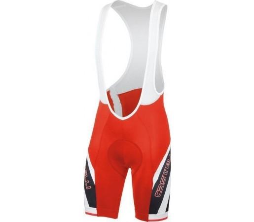 Pantaloni ciclism cu bretele Castelli Presto Due Alb/Rosu/Negru