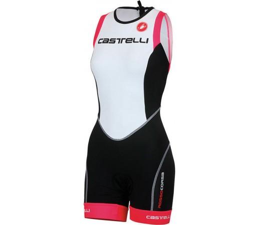 Costum triatlon Castelli Free W TRI ITU Negru/Alb/Roz