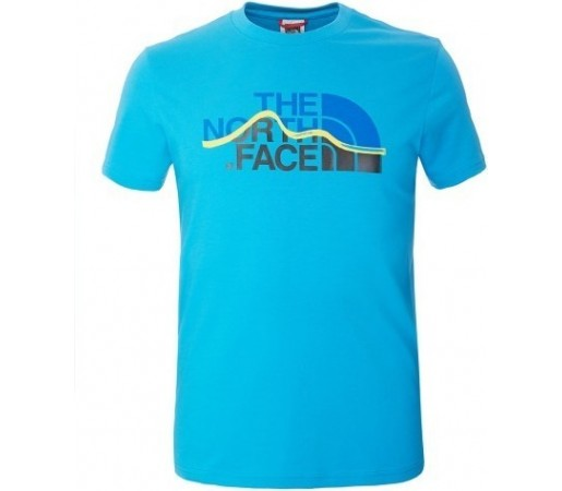 Tricou The North Face M S/S Mountain Line Albastru