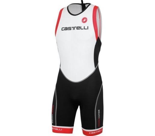 Costum triatlon Castelli Free TRI ITU Negru/Alb/Rosu