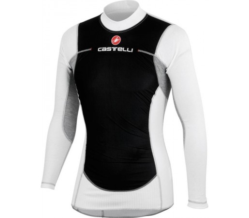 First layer Castelli Flanders Wind Negru/ Alb