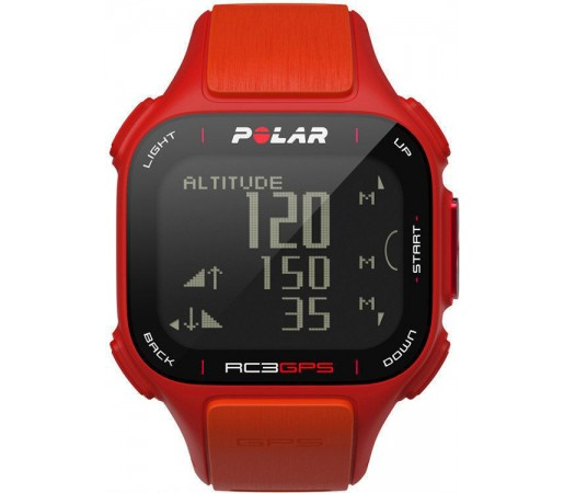 Ceas Polar RC3 cu GPS si centura HRM Orange