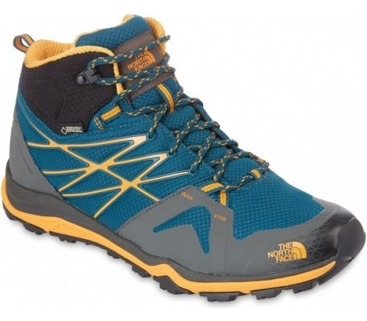 Incaltaminte Hiking The North Face M Hedgehog Fastpack Lite Mid Gtx Albastru/Galben