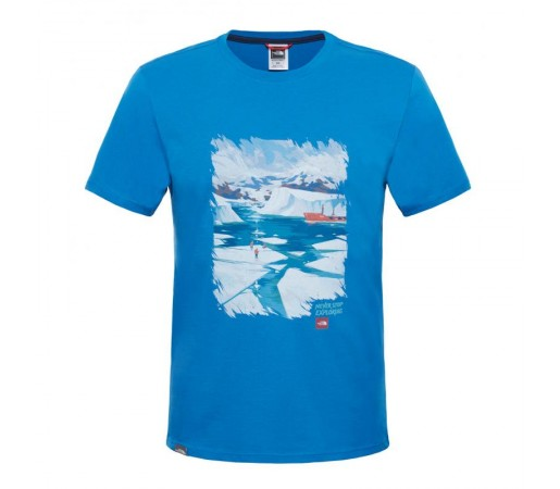 Tricou The North Face M S/S Never Stop Exploring Series Albastru