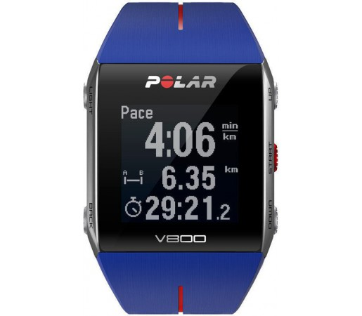 Ceas Polar V800 GPS cu centura HRM Albastru