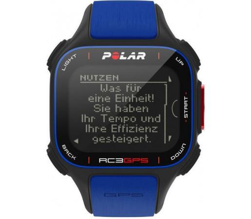 Ceas Polar RC3 cu GPS si centura HRM Albastru