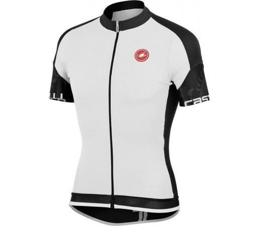 Tricou ciclism Castelli Entrata Alb/Negru