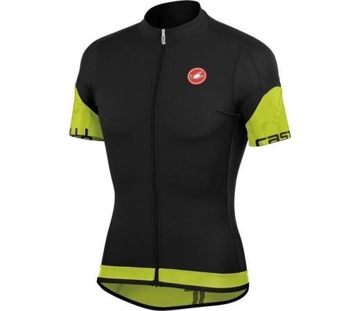 Tricou ciclism Castelli Entrata Negru/Verde