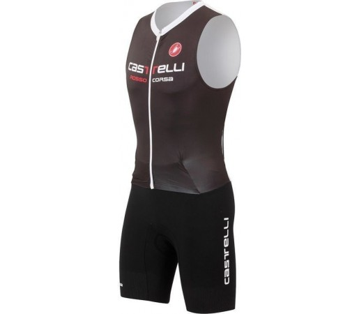 Costum triatlon Castelli Body Paint SR TRI Negru/Alb