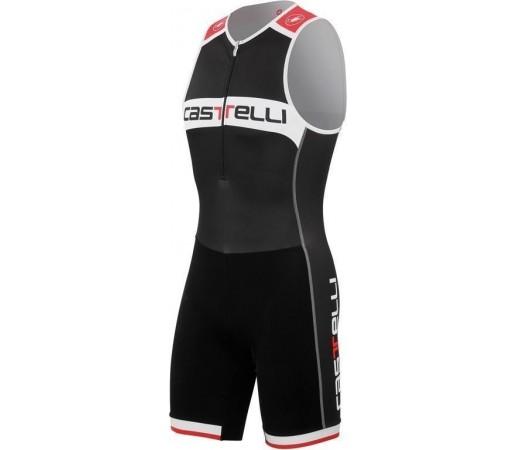 Costum triatlon Castelli Core TRI Alb/Negru/Rosu