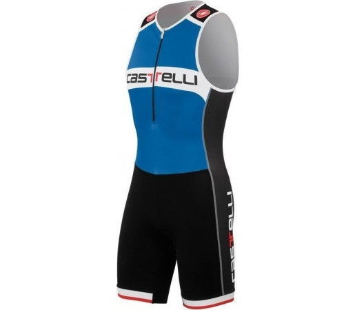 Costum triatlon Castelli Core TRI Albastru/Negru/Alb
