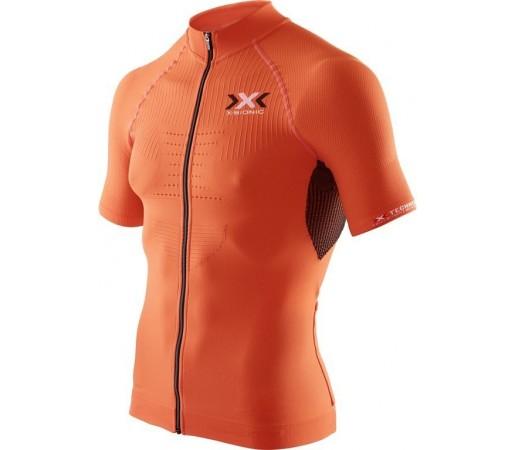 Tricou X-Bionic Biking Man THE TRICK OW SH-SL Full Zip Orange