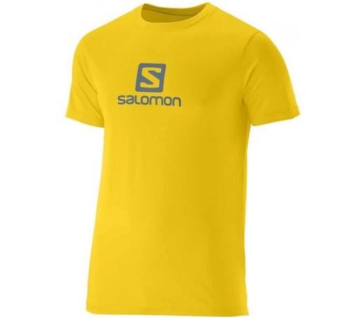 Tricou Salomon Cotton Tee M Galben/Albastru