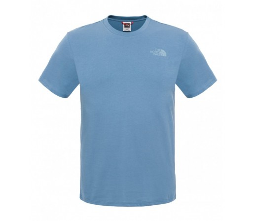 Tricou The North Face M S/S Simple Dome Albastru/Alb