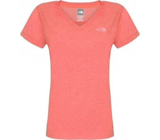 Tricou the North Face RDT V-Neck Fire Brick Heather
