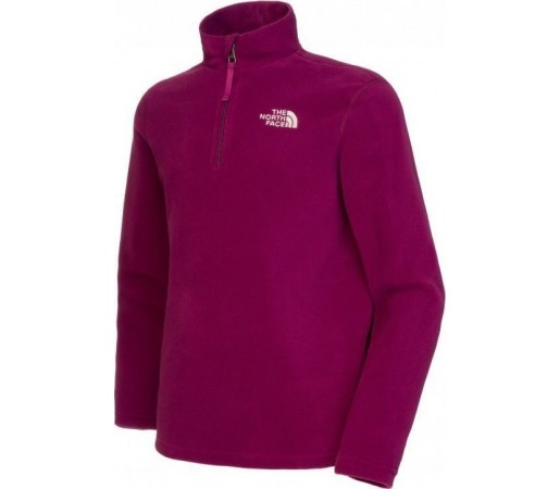 Polar The North Face Y Glacier 1/4 Zip Purple