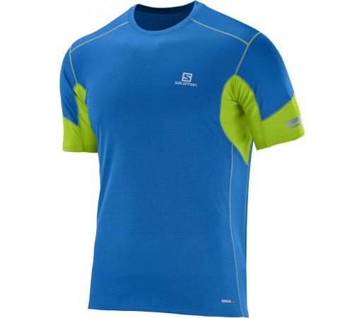 Tricou Salomon Agile SS Tee M Albastru/Verde