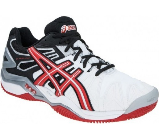 Incaltaminte Asics GEL Resolution 5 Clay Alb/Rosu