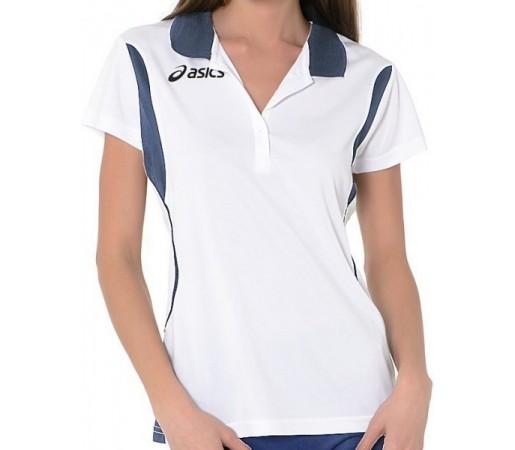Tricou Polo Asics Samantha Alb/Bleu