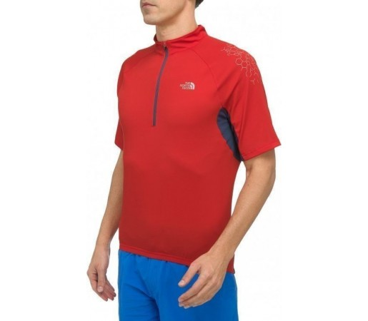 Tricou The North Face VTT 1/2 Zip M Centennial Red 2013