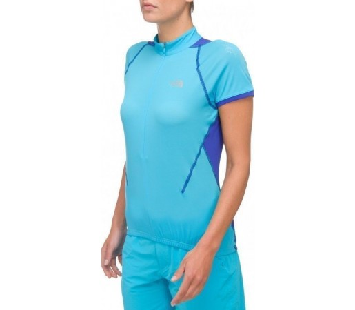 Tricou The North Face VTT 3/4 Zip W Turquoise Blue 2013