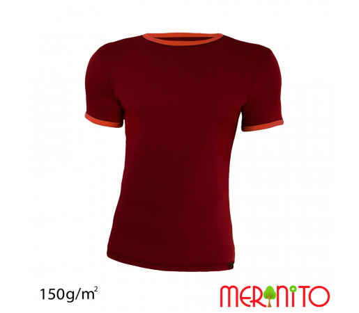 Tricou Merinito Barbati Velvet/ Portocaliu