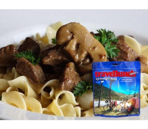 Aliment Travellunch carne de vita cu paste si ciuperci