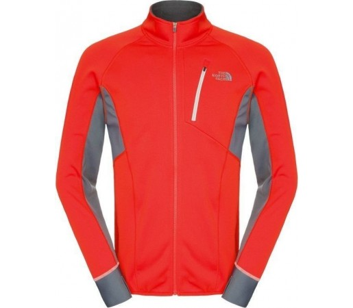 Mid Layer The North Face M Krypton Full Zip Orange- Grey