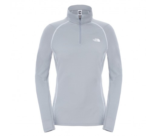 Bluza First Layer The North Face W Warm LS Zip Neck Gri