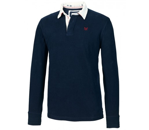 Bluza Crew Clothing Classic Rugby Albastra