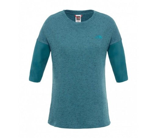 Bluza The North Face W SS Raglan 3/4 Verde